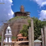 Abayagiri Stupa under restoration in 2008