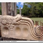 The mythical Makara (Dragon) on the Balustrade ( Korawak gala)