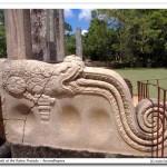 The mythical Makara (Dragon) on the Balustrade ( Korawak gala)