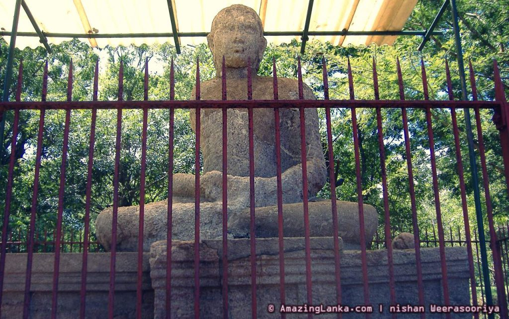 Third Samadhi Statue and the Asanaghara at Abhayagiri Monastic Complex