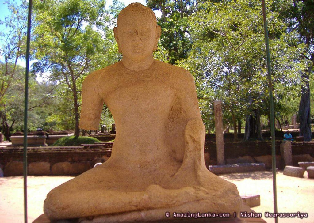 Second Samadhi Statue and Bodhigara in the Abhayagiri Monastery.