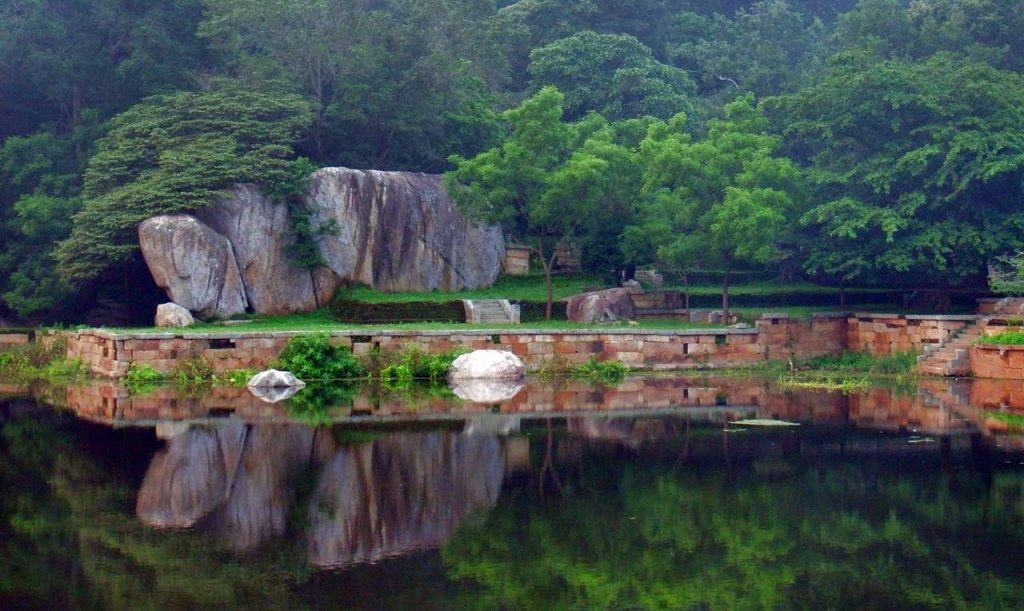 Kaludiya Pokuna (Blackwater Pool) of  Mihintale