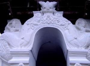 Makara at the doorway in at the entrance to the image house at Lankathilaka Raja Maha Viharaya