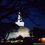 Ruwanweli Seya Stupa during the night