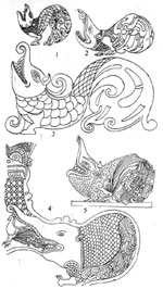 A sketch by L. T. P. Manju Sri who has reproduced the many forms of the Makara