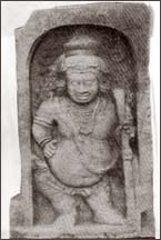 Bahirawa Guardstone - Abhayagiri Vihara