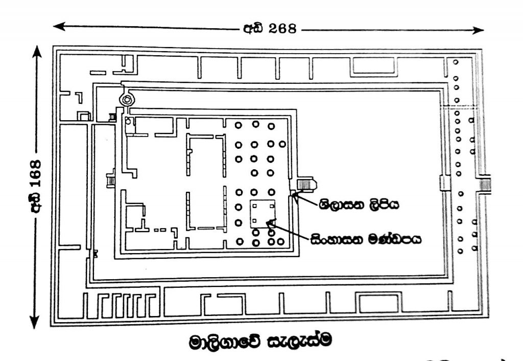Plan of the Palace Complex of Panduwasnuwara Kingdom