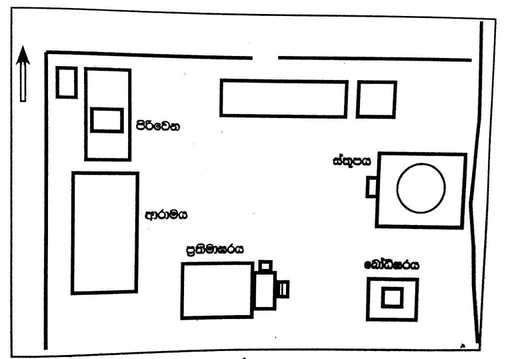 Plan of Aramic Complex III in Panduwasnuwara