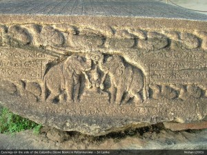 Carvings on the side of Galpotha