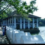 Queens Bathing house on the edge of the Kandy lake