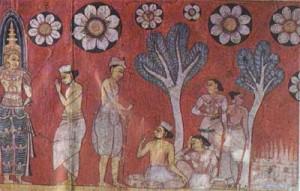 Paintings at Hindagala Raja Maha Vihara