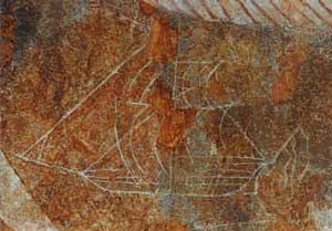 Ship Graffiti at Natha Devalaya