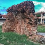 Ruins of what is thought to be part of the ancient fort of Mullathivu