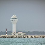 Colombo Harbor new terminal breakwater lighthouse