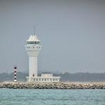 Colombo Harbor new terminal breakwater lighthouse