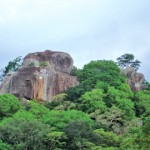 The rocky hill on which the cave temple existed rises to a height of 300 feet