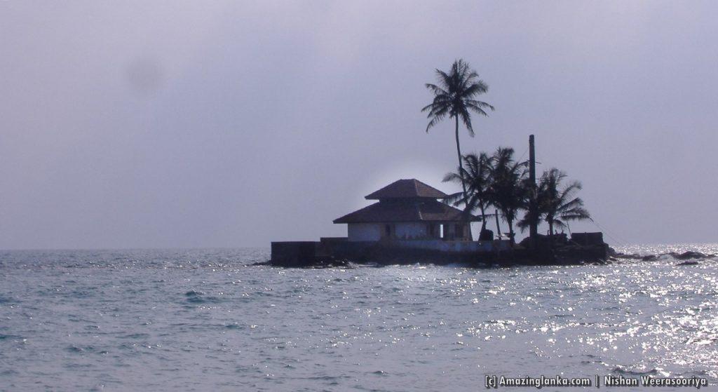 Seenigama Devalaya on the small island off Southern Beach