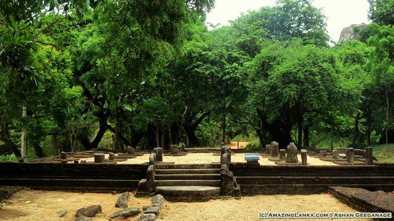 Ruins of a Pohoya-Ge at the Dambulla Somawathi archaeological site