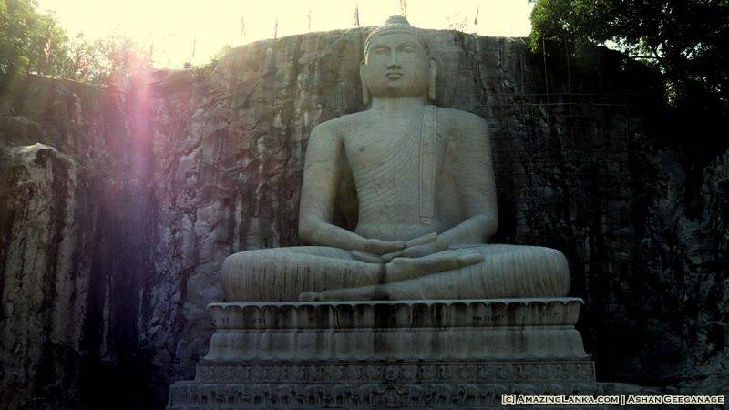 World's Largest Sedentary Buddha Statue carved out of Granite at Rambodagalla Viharaya in Kurunegala