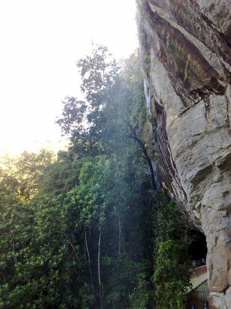 Casacade over Belilena Cave