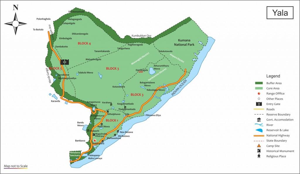 Map of Yala National Park