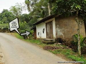 Hidden access path to Beruwatte Falls