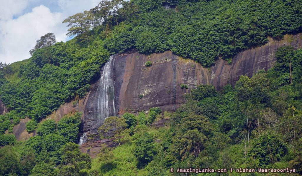 Upper Segment of Diyathiri Ella Waterfall seen from far