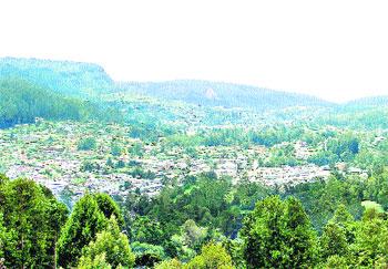 View of Nuwara Eliya town