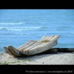 1/2 boats used by fisherman Casuarina Beach - Jaffna