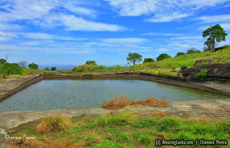 To infinity pool of the kings on the top of Nuwaragala Kanda, Ampara