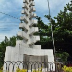 The commemoration monument where the Battle of Randeniwela took place