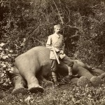 Franz Ferdinand with one of the elephants he killed in Kalawela, Ceylon, in January 1893.
