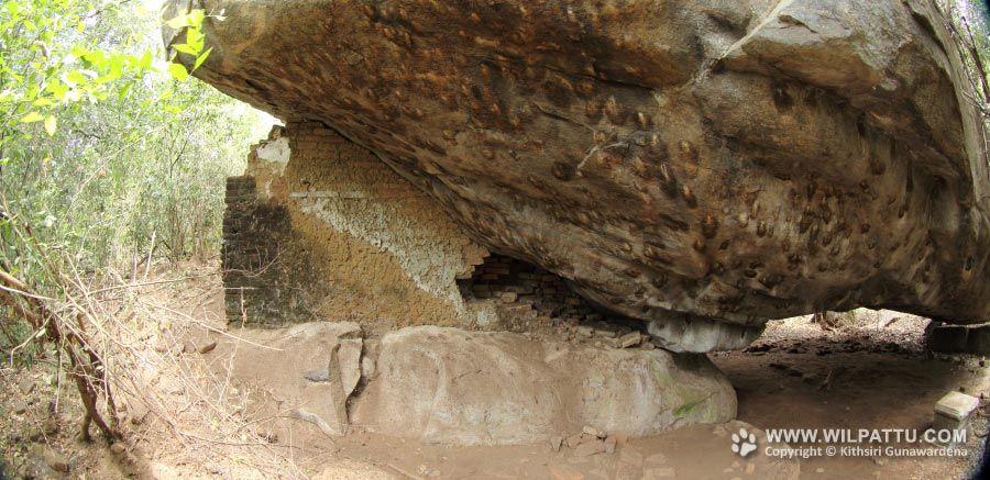 Galge Viharaya Ruins in Wilpattu