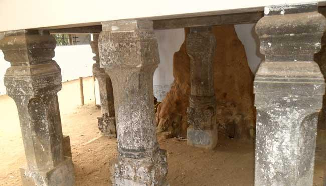 Stone Pillars of Medagoda Pattini Devalaya