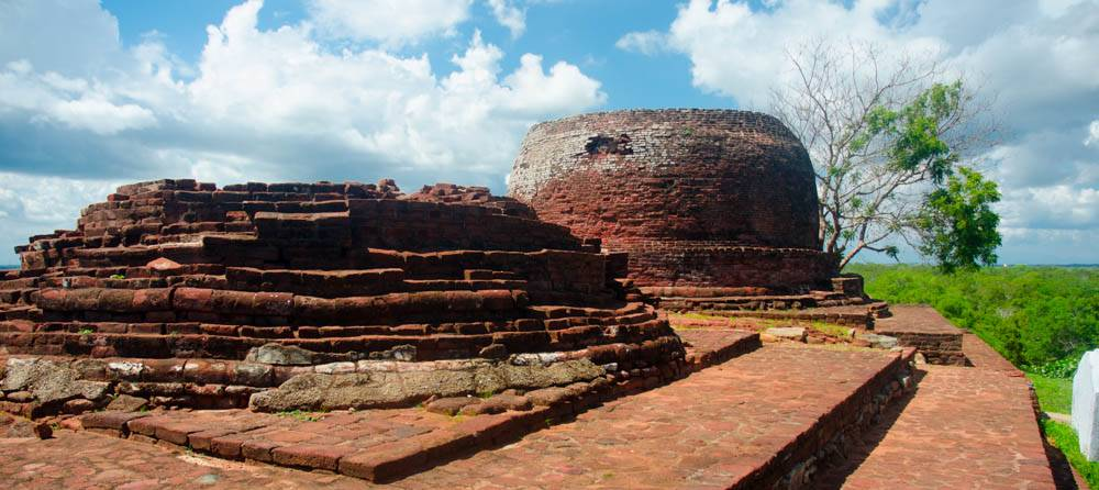 THe two Yahangala Stupas at the top of the hill