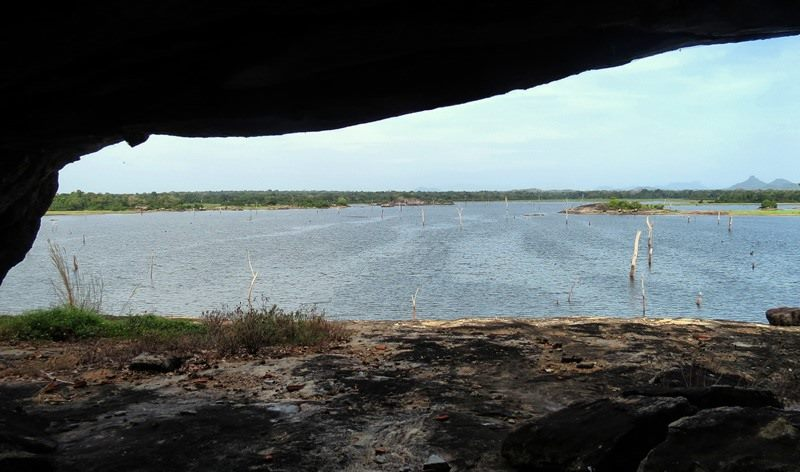 View from the caves at the Kanchikudichchi Aru Reservoir