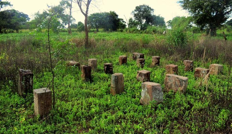 Remains of a Tampita Viharaya at Navodagama Archaeology Site