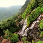 Mini waterfalls between the 2nd and 3rd waterfalls at Kalugala Gerandi Ella cascades