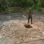 Swastika Pokuna at Polonnaruwa destroyed by treasure hunters