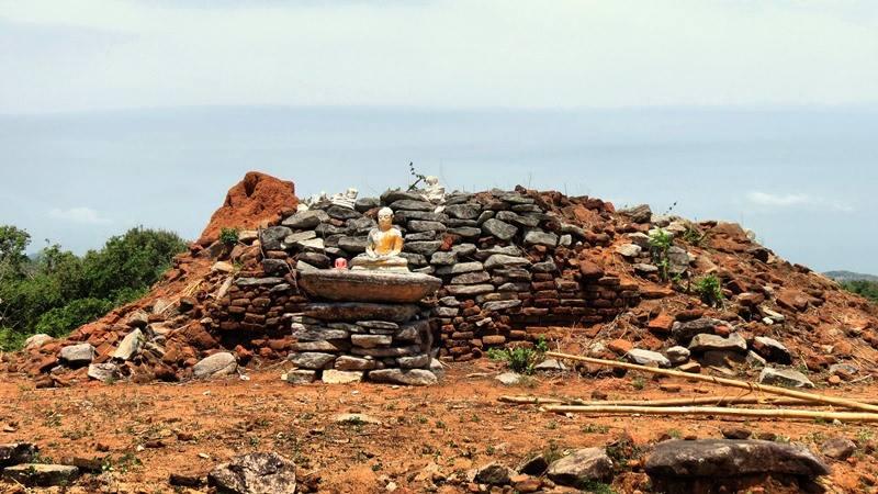 Remains of the ancient stupa of Veheragala Mahasen Rajamaha Viharaya