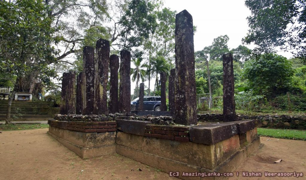 Ruins of Warakagoda Kingdom at Ganeuda Purana Viharaya in Kalutara