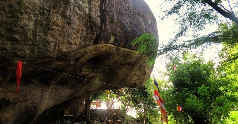 Pothana main cave where excavations were done