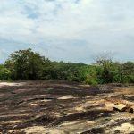 Washed away ruins at the top of the Vehera Pudamaya rock at the Thottama Ariyakara Rajamaha Viharaya