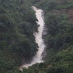 Hawari Oya Ella Waterfall on a rainy day