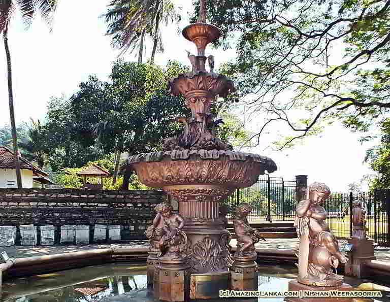 The fountain erected by the Coffee Planters in 1873 to commemorate the visit of Prince of Wales to Kandy