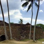 The Black Fort of Galle, Sri Lanka also called Santa Cruz or Zwart Fort (Zwart Bastian)