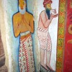 Paintings on the inner chamber at the Sri Mahamuni Purana Tampita Viharaya