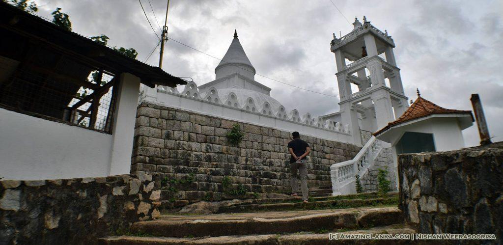 Access to the vihara maluwa is through this old bell tower @ Makulana Rajamaha Viharaya - Mawathagama
