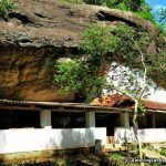 The 300 feet long main cave which contains the image house and the Sangawasa - Buttala Katugahagalge Rajmaha Viharaya