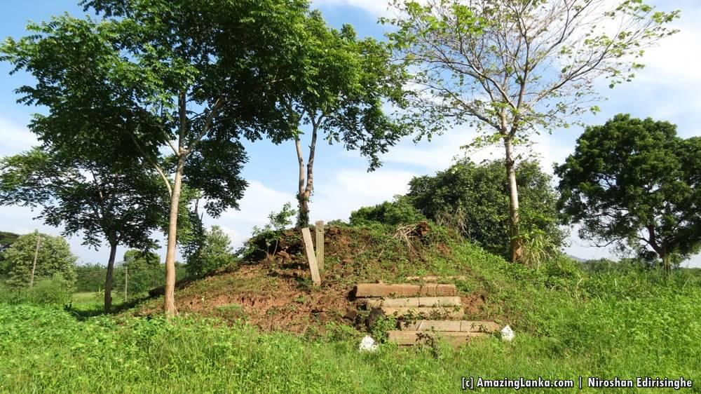 The ancient stupa of the Buttala Gonaganara Walagamba Purana Viharaya